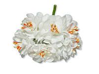 Декоративный букетик - Хризантема белая, размер 3 см, 3 шт