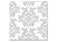 Салфетка для декупажа - Серый дамаск, 33x33 см