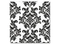 Салфетка для декупажа - Черный дамаск, 33x33 см