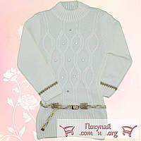 Вязанная туника с камушками для девочек от 7 до 9 лет (4769-3)