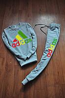 Мужской  спортивный костюм Adidas цветное лого