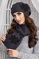 Комплект Лилии (берет и шарф) 5051-10