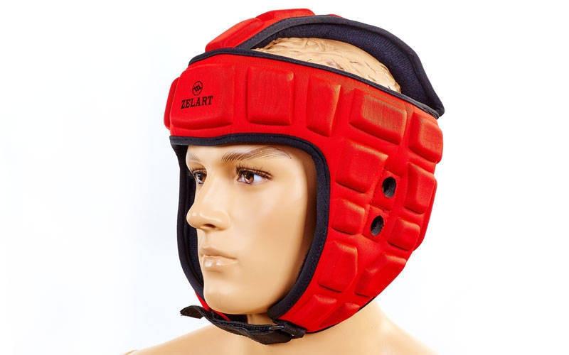 Шлем для борьбы красный  EVA+PU MA-4539-R