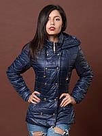 Куртка приталенного силуэта синего цвета