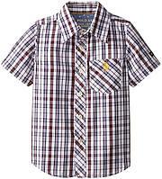 "Рубашка для мальчика с коротким рукавом U.S. Polo Assn. ""Клеточка"" р.5/6"
