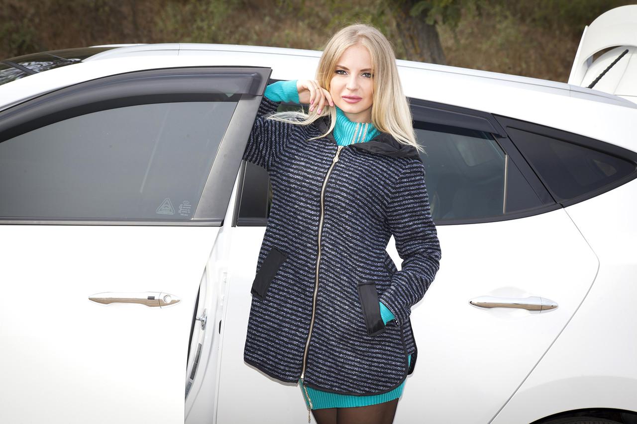 Куртка-ветровка серая на молнии (с капюшоном) windbreaker jacket  К-3837