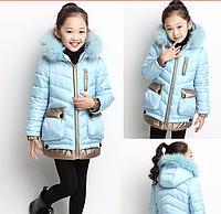Куртка пуховик  на девочку, фото 1
