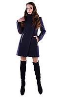 Женское темно-синее зимнее пальто арт. Эльпассо шерсть зима 4607