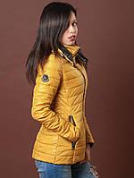 Горчичная курточка со съемным капюшоном