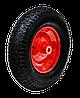 """Колесо 14"""", ось 16х60мм с металлическим диском для тачки TECHNICS"""