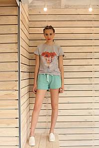 Женские шорты мятного цвета