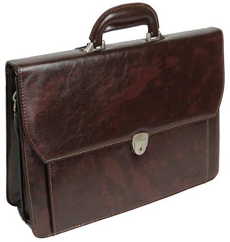 Элегантный деловой портфель из кожзама 4U CAVALDI, B027C4 коричневый