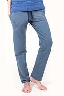 Штаны синие меланж с карманами
