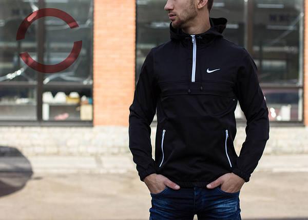 Анорак черный, куртка с капюшоном, фото 2