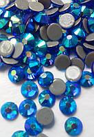 Стразы А+ Премиум, Sapphire AB (синий) SS16 (4,0 мм) термоклеевые. Цена за 144 шт.