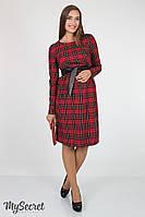 Платье Barbara для будущих и кормящих мам (красно-черный)