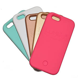 Чехол с LED подсветкой розовый для Iphone 6Plus/6SPlus