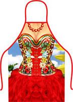 Фартук прикол подарок Красотка в платье