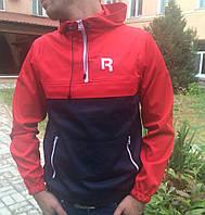 Анорак красно-синий, мужская одежда