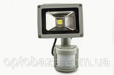 Светодиодный прожектор LED с датчиком движения 10 Вт, Матрица