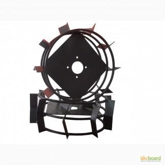 Грунтозацепы к мотоблоку (железные колёса) Ø 450 мм цельный квадрат 10х10 АМ