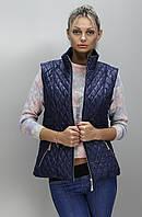 Стильная женская жилетка КС темно-синяя 42-52 размеры