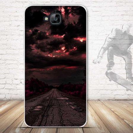Оригинальный чехол панель накладка для Huawei Y6 Pro с картинкой Дорога