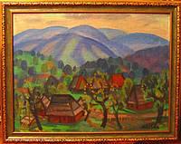 Картина Осень на Верховине Коцка А.А.  1970-е годы