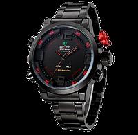 Мужские спортивные часы Weide Sport Watch Черно-красные