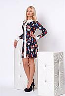 Оригинальное женское платье с воротничком