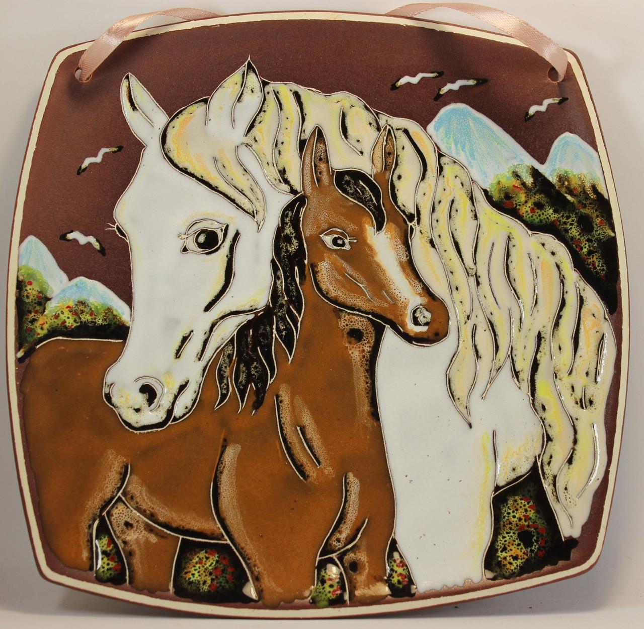 Тарелка (б.кв.) «Лошадки»