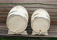 Дубовая бочка для вина на 10 литров (металл)