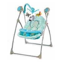 Кресло-качалка Baby Mix SW102-016RC +мобиль и пульт голубое.