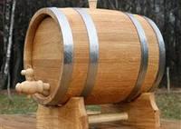 Дубовая бочка для вина на 10 литров (нержавейка)