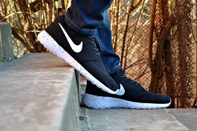 кроссовки с белой подошвой Nike roshe run, мужские ,стильные , фото 2