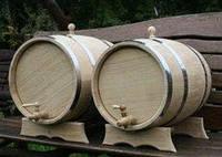 Дубовая бочка для вина на 15 литров (металл)