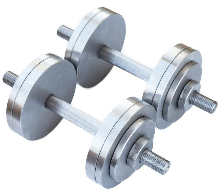 Разборные гантели металлические 2 по 14 кг (наборные, гантели для дома)
