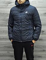 Темно-синяя мужская куртка, зимняя XL