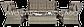 Набор  ротанга BILBAO MELANGE 3 диван + кресла +стол, фото 3