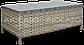 Набор  ротанга BILBAO MELANGE 3 диван + кресла +стол, фото 5