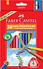 Цветные карандаши Jambo 30 цветов, трехгранные Faber-Castell.