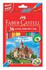 """Кольорові олівці """"Замок і лицарі"""" 36 кольорів + точилка Faber-Castell."""