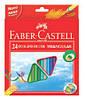 Кольорові олівці тригранні, 24 кольору + точилка Faber-Castell.