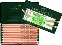 Набор цветных пастельных карандашей PITT 12 цветов Faber-Castell