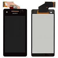 Дисплей для Sony LT25i Xperia V, с сенсором (тачскрином) Black