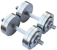 Гантели 2 по 18 кг разборные металл (металеві гантелі розбірні наборні наборные для дома металлические)