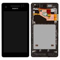 Дисплей для Sony LT25i Xperia V, с сенсором (тачскрином) и рамкой Black