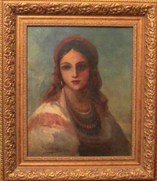 "Картина ""Портрет украинки"", автор Винтурин М.И. 1881 год"