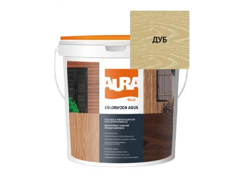 Лазурь-лак алкидный AURA COLOR WOOD AQUA для древесины дуб 0,75л
