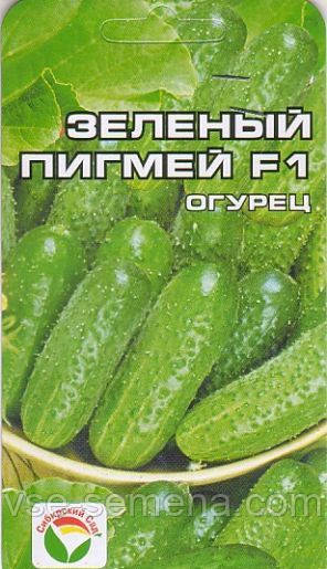Огірок Зелений Пігмей F1, 7шт.